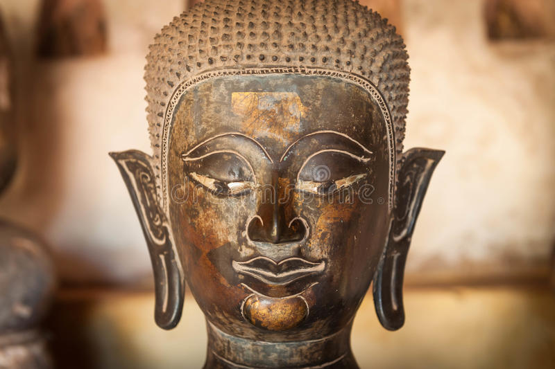 Buddha antico a Vientiane, Laos fotografia stock