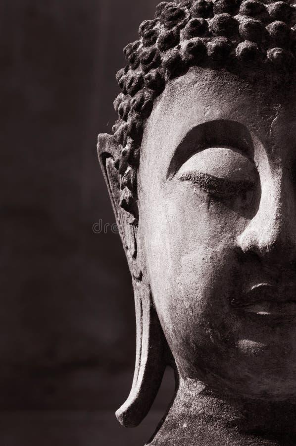 Buddha antyczna twarz obraz stock