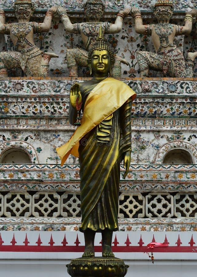 buddha antyczni wizerunki Wata Arun świątynia obrazy stock