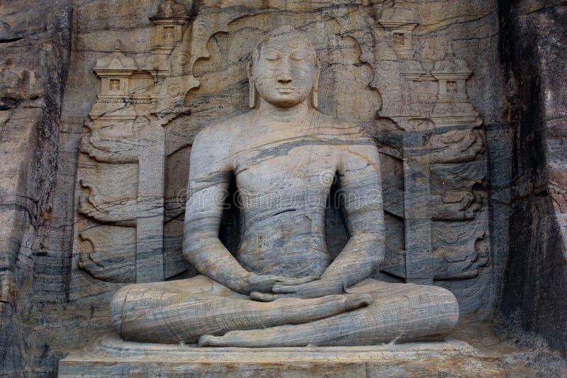 Buddha assentado fotografia de stock