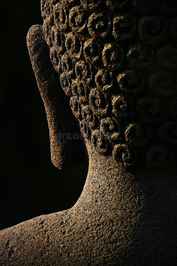 Buddha-Auszug, Borobudur stockbild