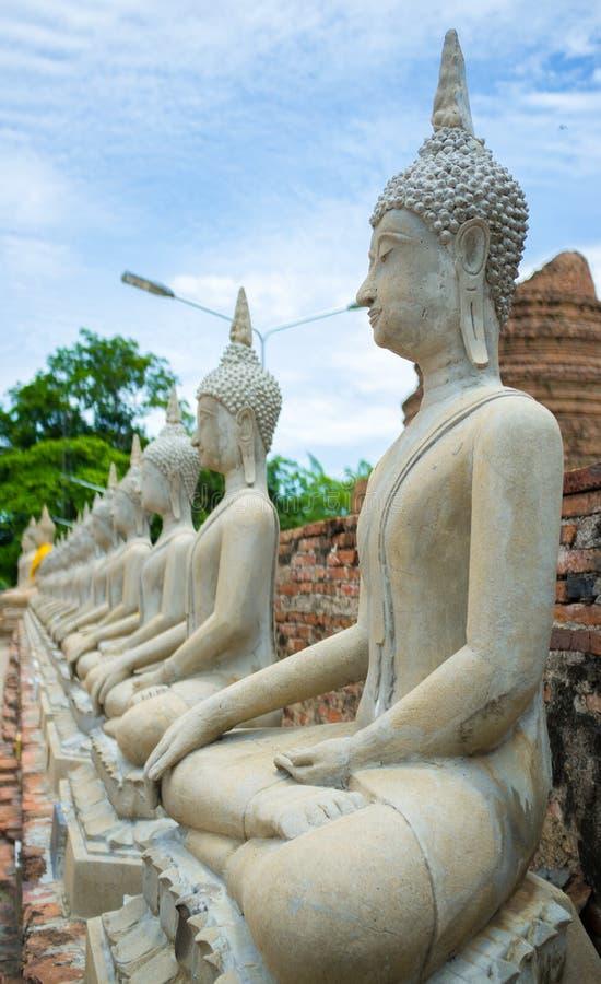 Buddha in Ayutthaya-Tempel Thailand thailändisch lizenzfreie stockfotos