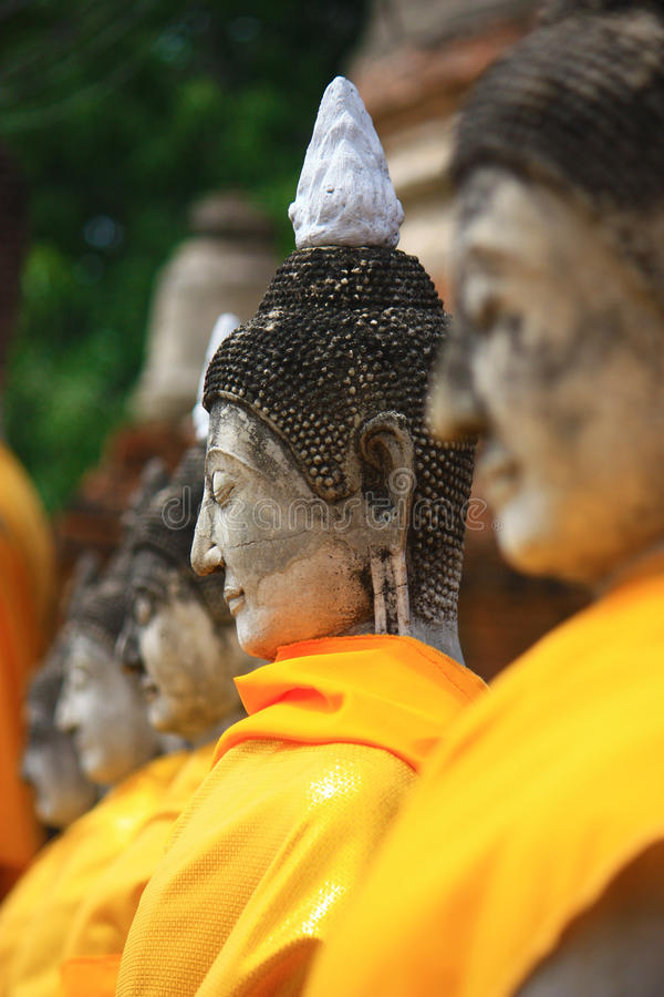 Buddha in Ayutthaya temple royalty free stock photo