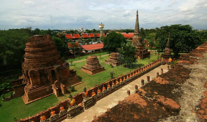 Buddha in Ayutthaya temple stock image