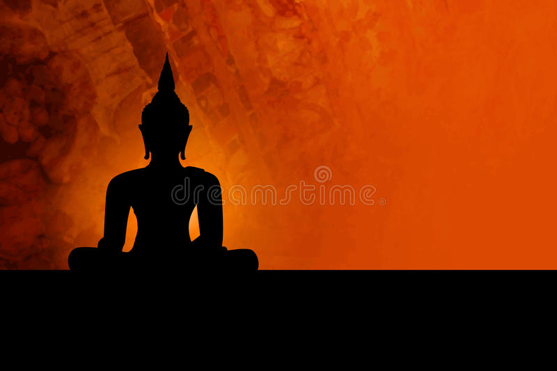 Buddha background royalty free illustration