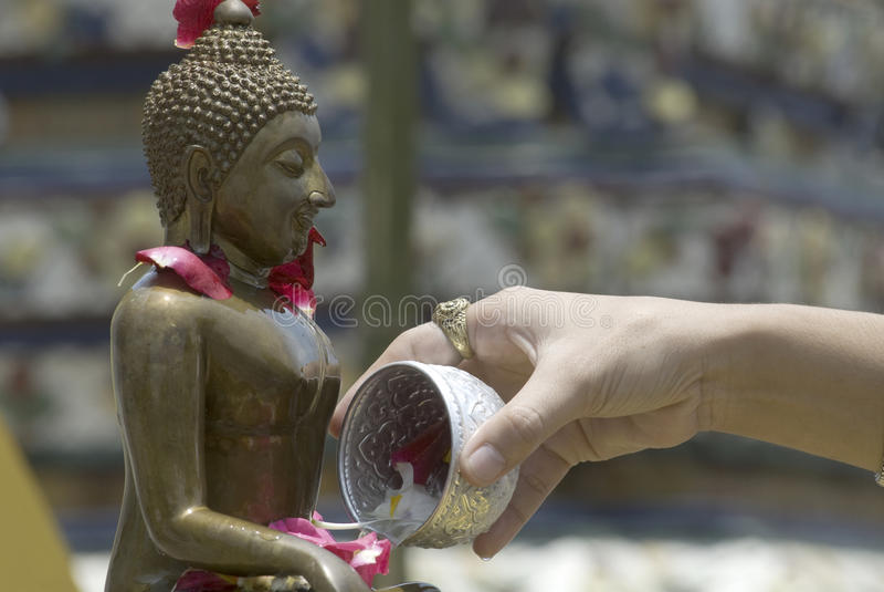 Buddha Bath 3 stock photo
