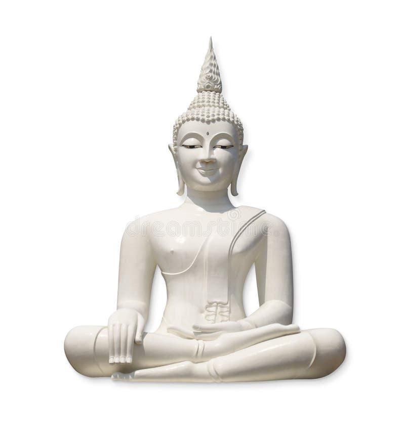 Buddha bianco (isolato) fotografie stock