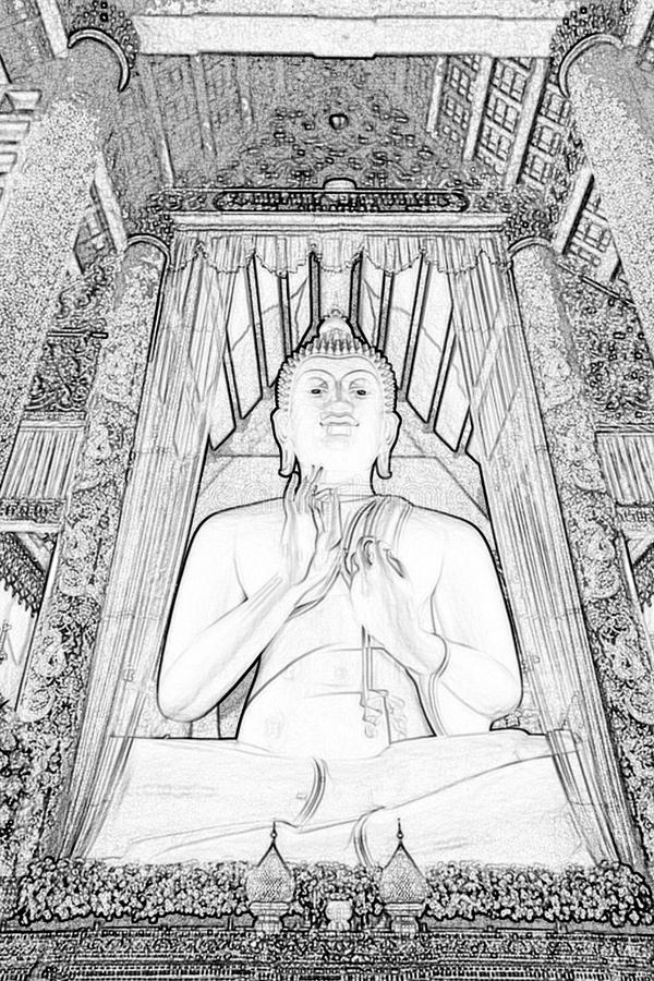 Buddha-bild i ett tempel i Thailand royaltyfri fotografi