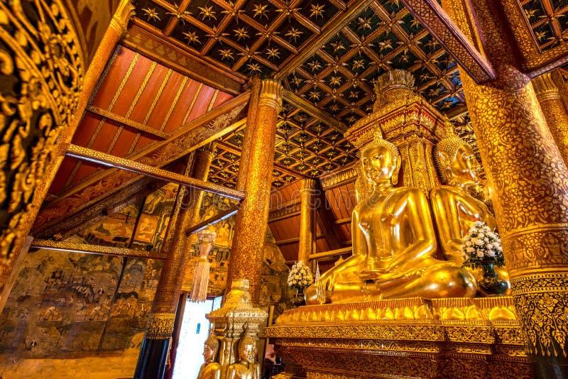 Buddha-Bild im Nordtempel von Thailand lizenzfreies stockfoto