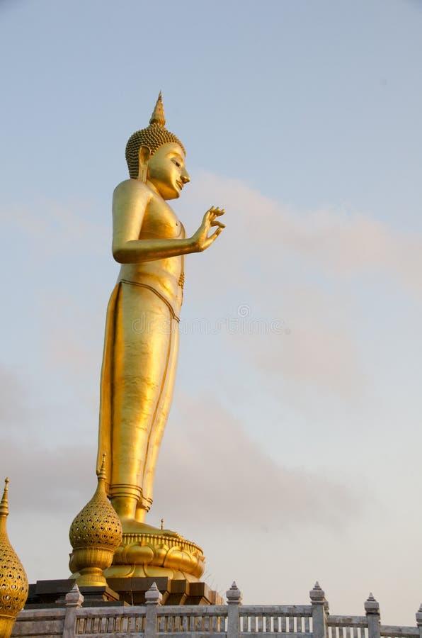 buddha bildstanding Inställningen av att övertala släktingarna royaltyfria bilder