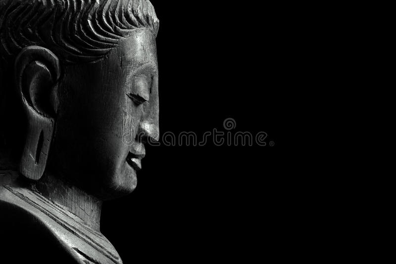 Buddha on black royalty free stock photos