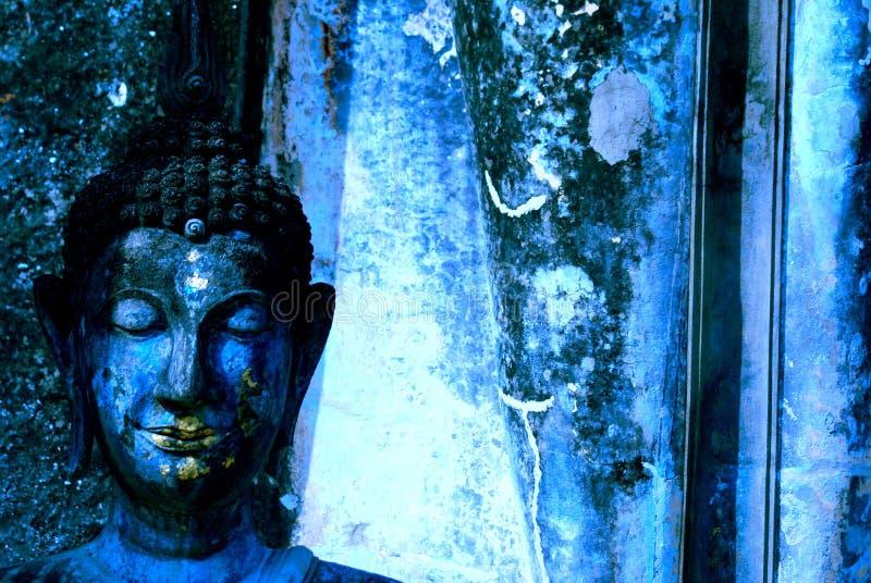 Buddha blu fotografia stock