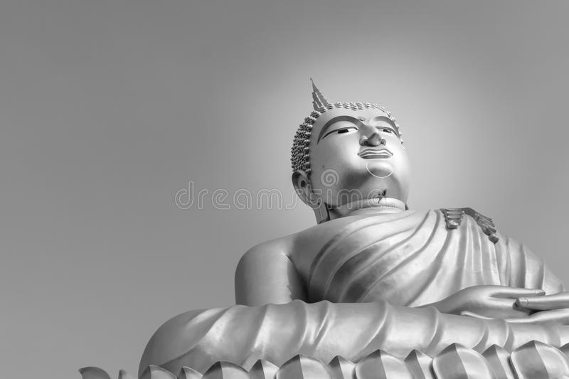 Buddha blue sky royalty free stock photo