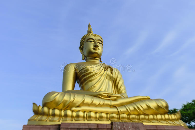Buddha blue sky royalty free stock images