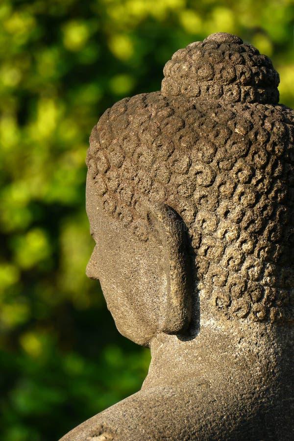 Buddha at Borobudur, Central Java, Indonesia stock image