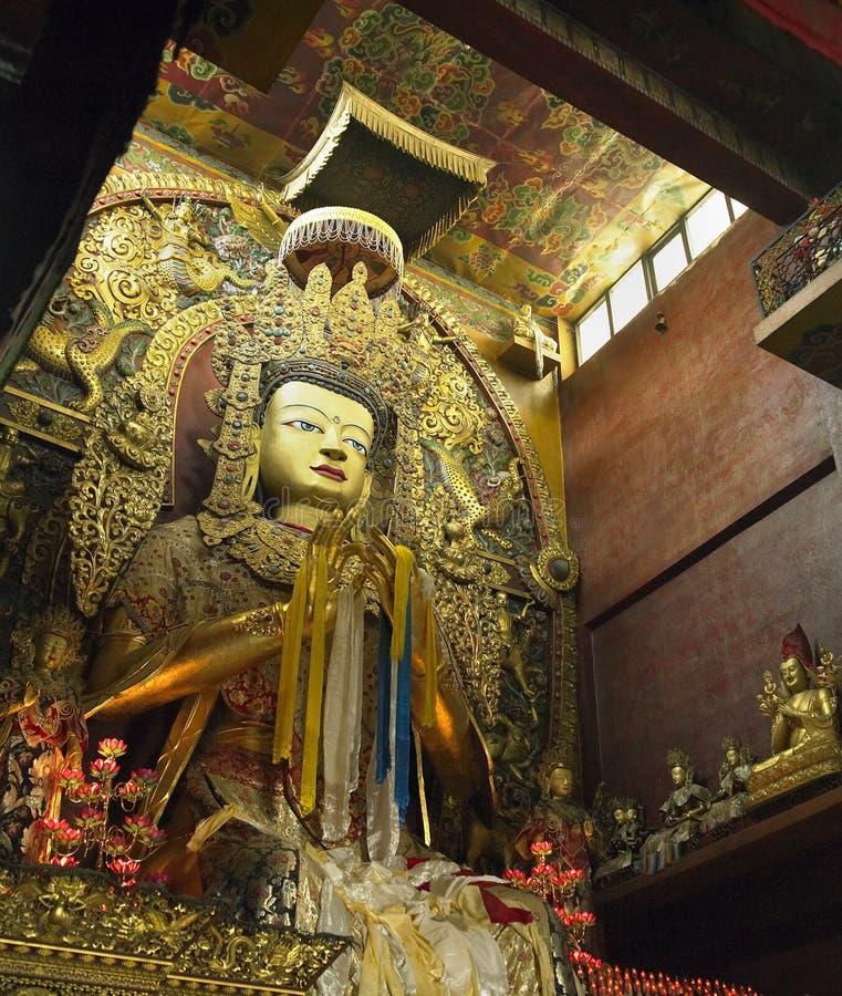 Buddha - Boudhanath kloster - Nepal royaltyfria bilder
