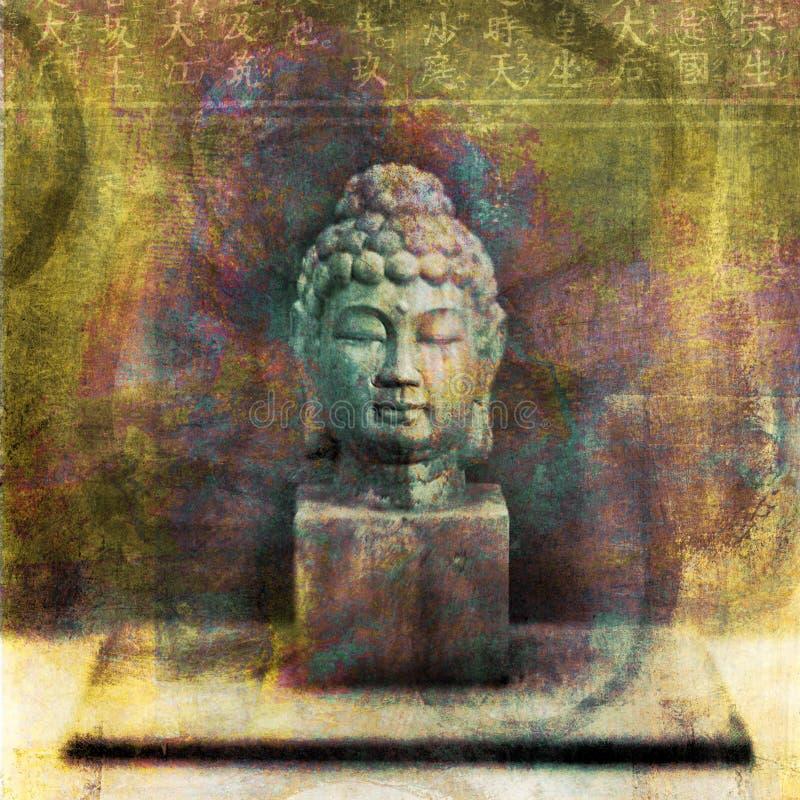 buddha byst royaltyfri illustrationer