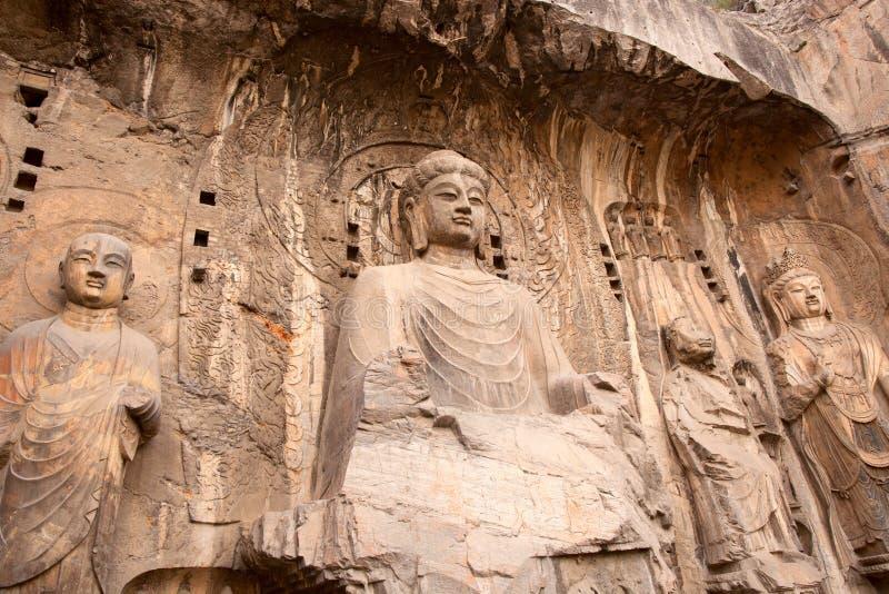 Buddha, cavernas de Longmen foto de stock