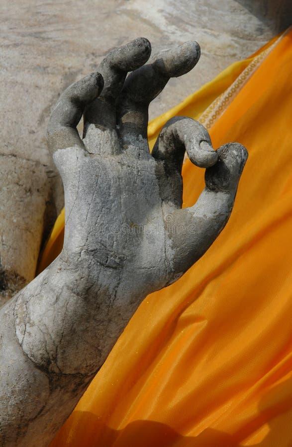 Buddha che fa segno GIUSTO fotografie stock libere da diritti