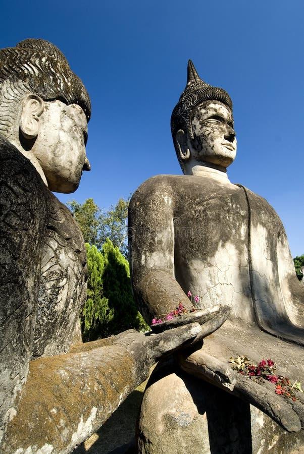 Buddha che offre, Vientiane. Il Laos immagine stock