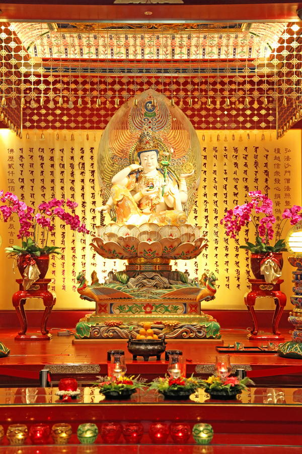 Download Buddha in a Chinese Temple stock photo. Image of tourist - 9600216