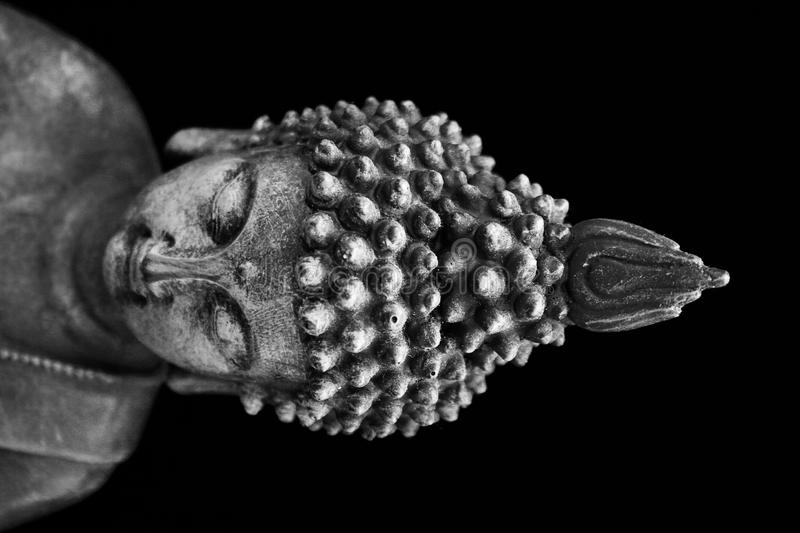 Buddha with the closed eyes royalty free stock photos