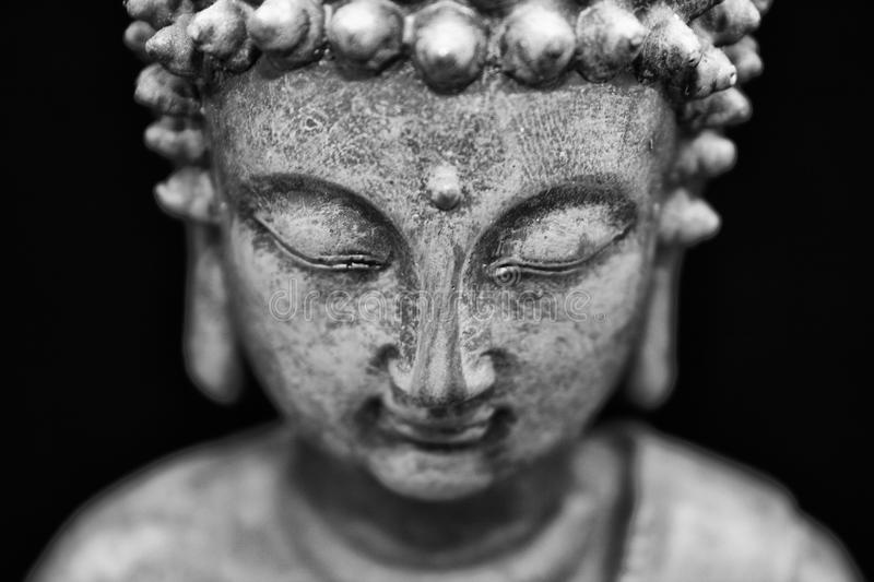 Buddha with the closed eyes stock photos