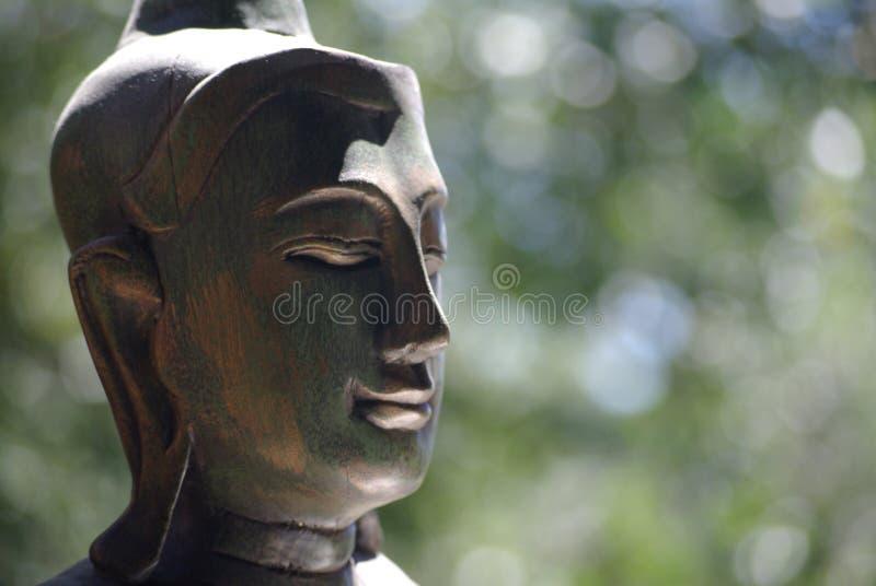 Buddha con priorità bassa molle fotografia stock libera da diritti