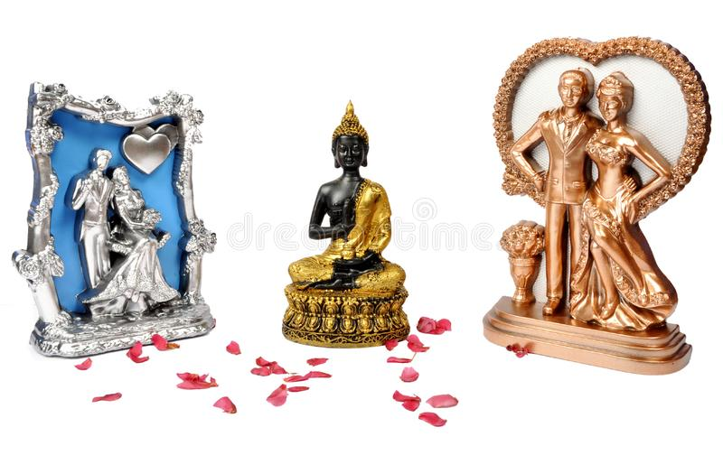 Buddha with couples gift stock image