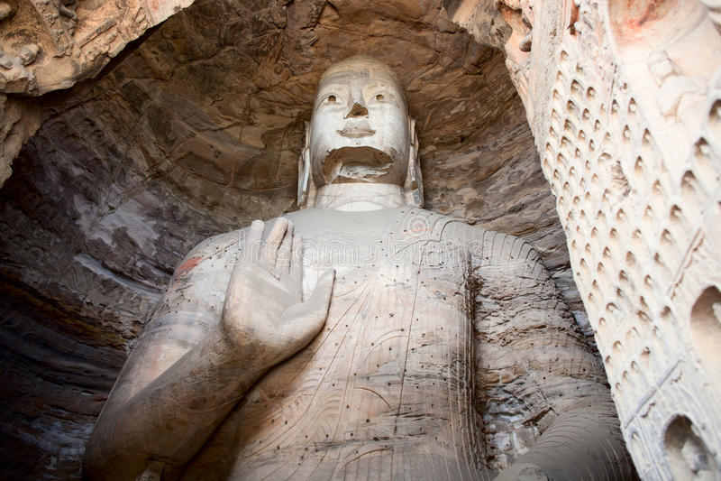 Buddha, cuevas de Longmen fotos de archivo libres de regalías