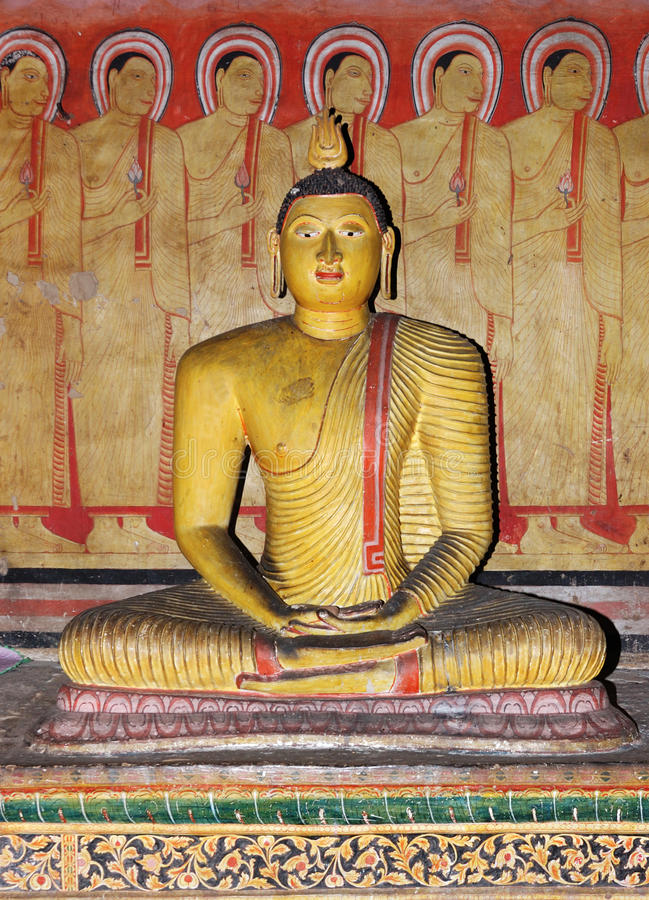 Buddha at Dambulla cave complex,Sri Lanka royalty free stock photography