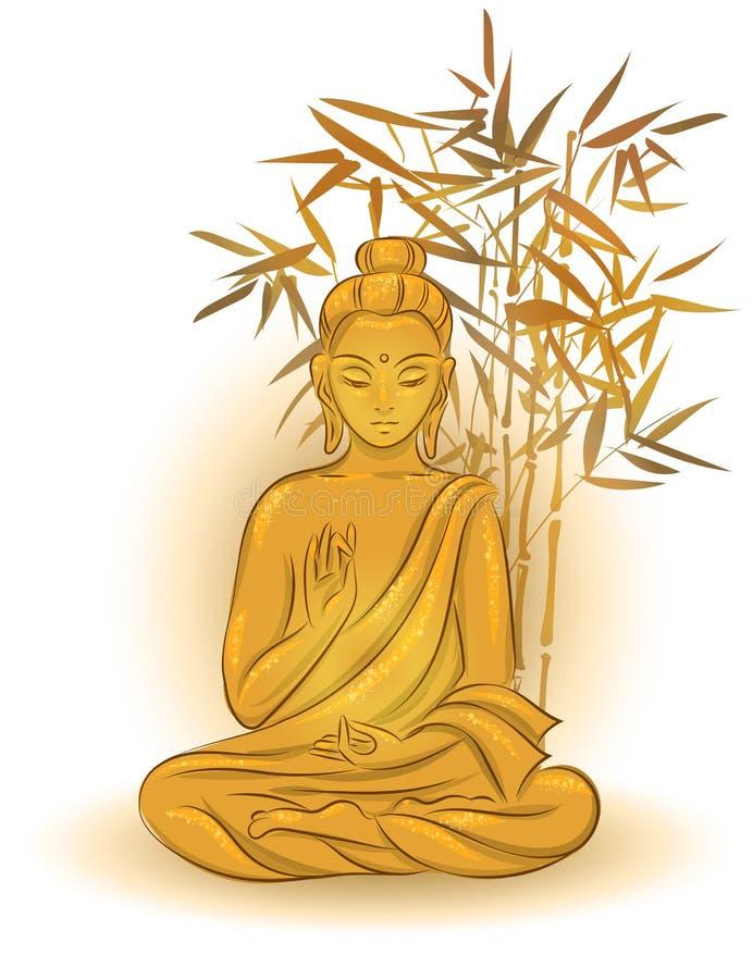 Buddha de assento ilustração stock