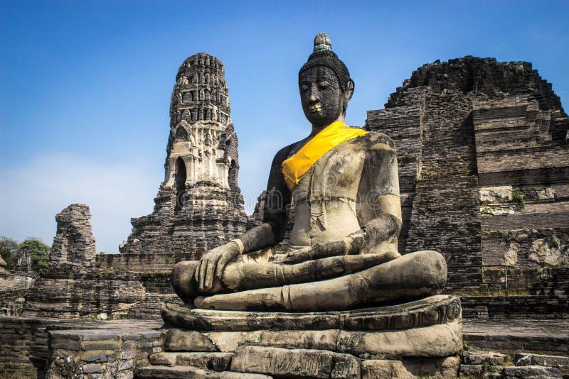 Buddha de Ayutthaya imagens de stock royalty free