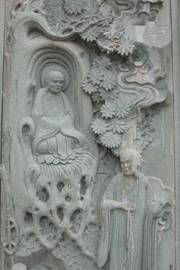 Buddha de piedra en el templo de Kek Lok Si imagen de archivo libre de regalías