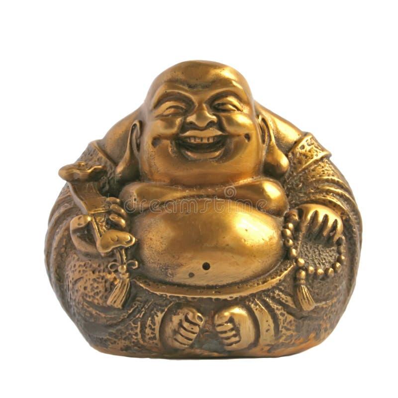 Buddha de risa en una dimensión de una variable de la esfera imagen de archivo libre de regalías