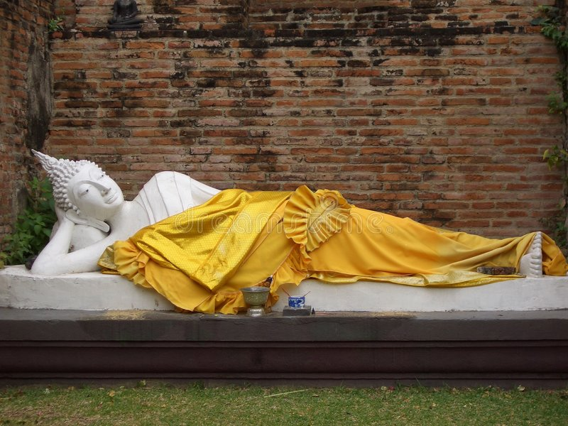 Buddha de sono imagem de stock royalty free