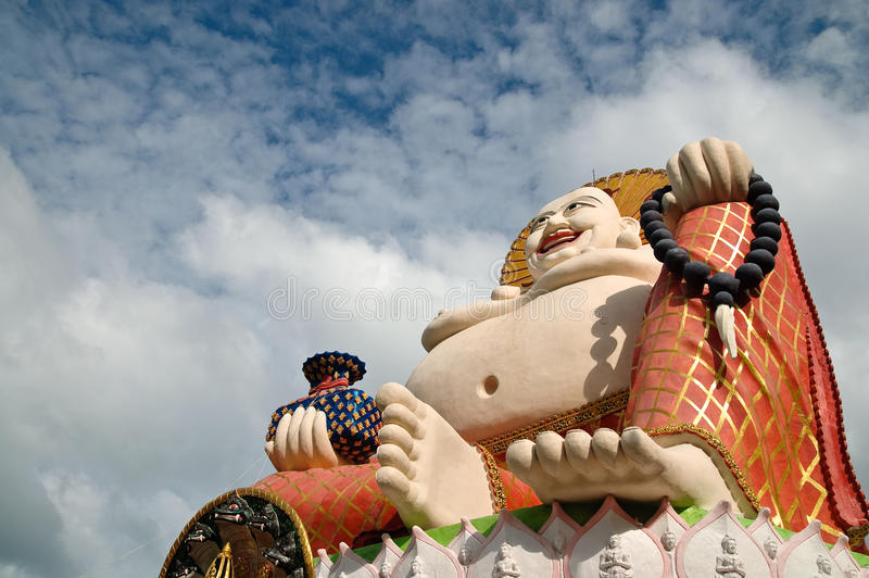 Buddha de sorriso fotografia de stock royalty free