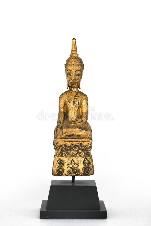 Buddha di seduta fotografie stock