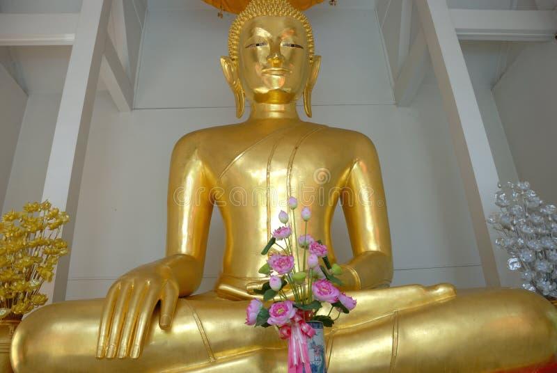 Buddha di seduta, Bangkok, thaila fotografia stock