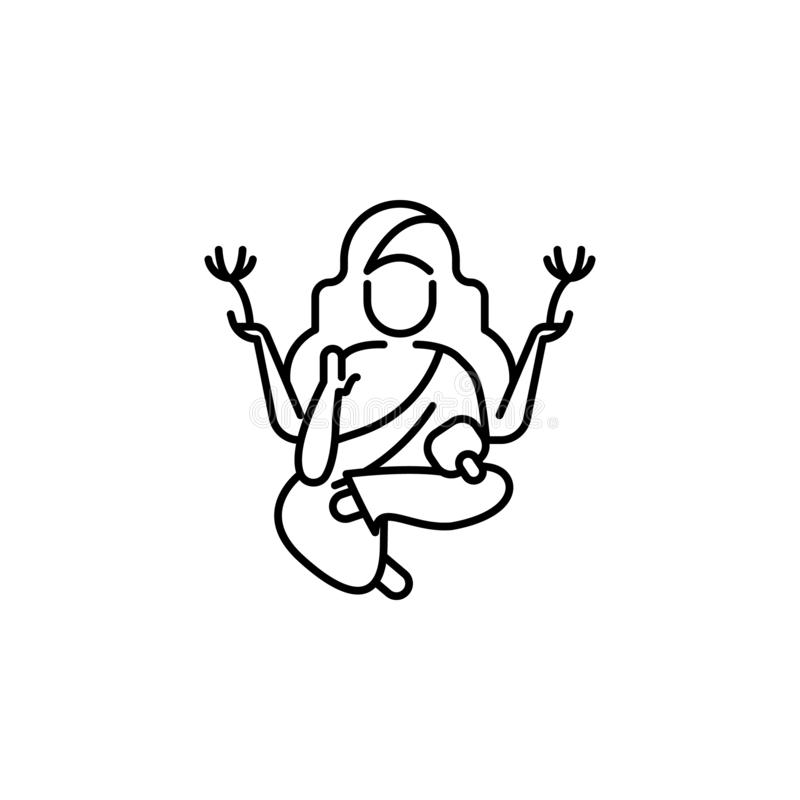 Buddha Diwali icon on white background. Diwali Hindu festival elements for graphic and web design on white background royalty free illustration