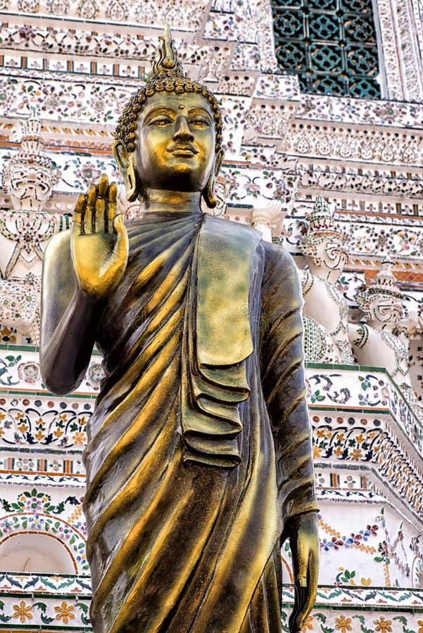 Buddha dorato in Arun Wat fotografia stock libera da diritti