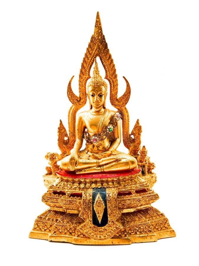Buddha dorato, fondo bianco immagini stock libere da diritti