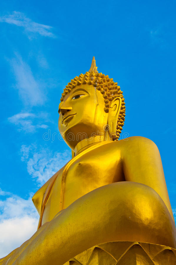 Buddha dorato in Tailandia fotografia stock