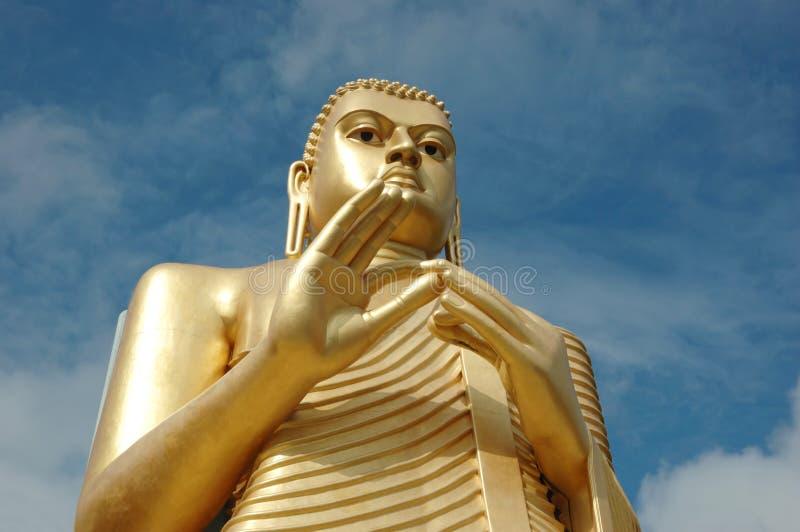 Buddha dourado em Dambulla, Sri Lanka imagem de stock