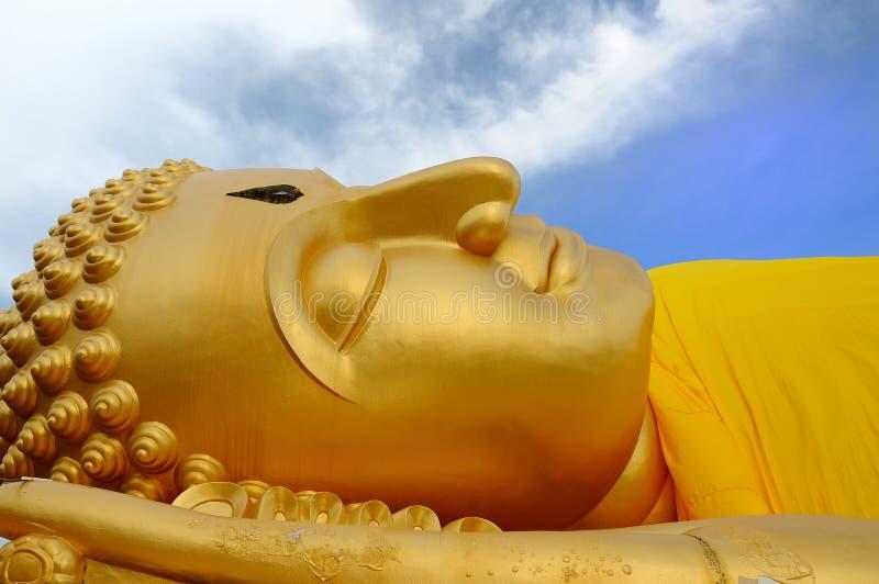 Buddha-EIn schlafender Buddha stockfotos