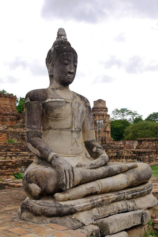 Buddha en Ayutthaya tailandia imágenes de archivo libres de regalías