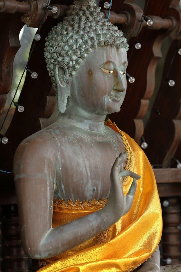 Buddha erscheint im Seema Malaka-Tempel von Colombo in Sri Lanka lizenzfreie stockbilder