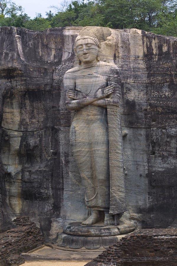 Buddha estando imagens de stock