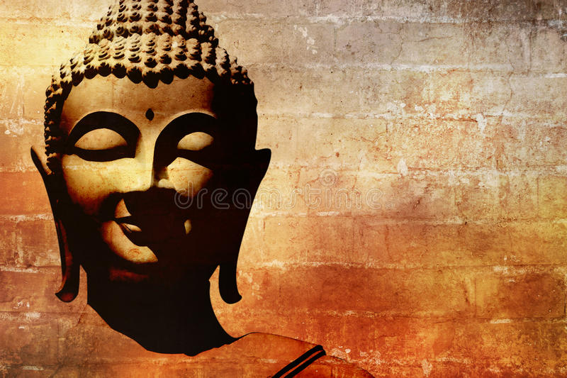 Buddha face background stock illustration. Illustration of bhudda ...