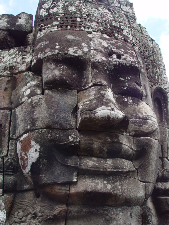 Buddha Face Statues in Bayong stock image